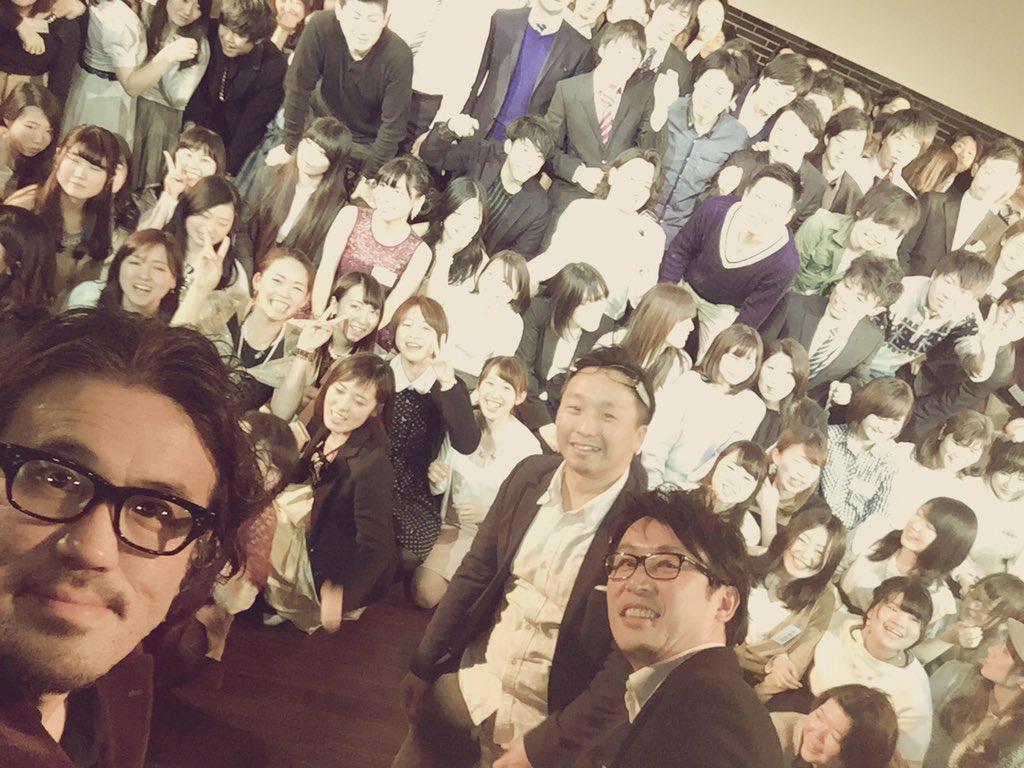 馬場さん、鈴木さん、そして社員さんと一緒にインカメ。