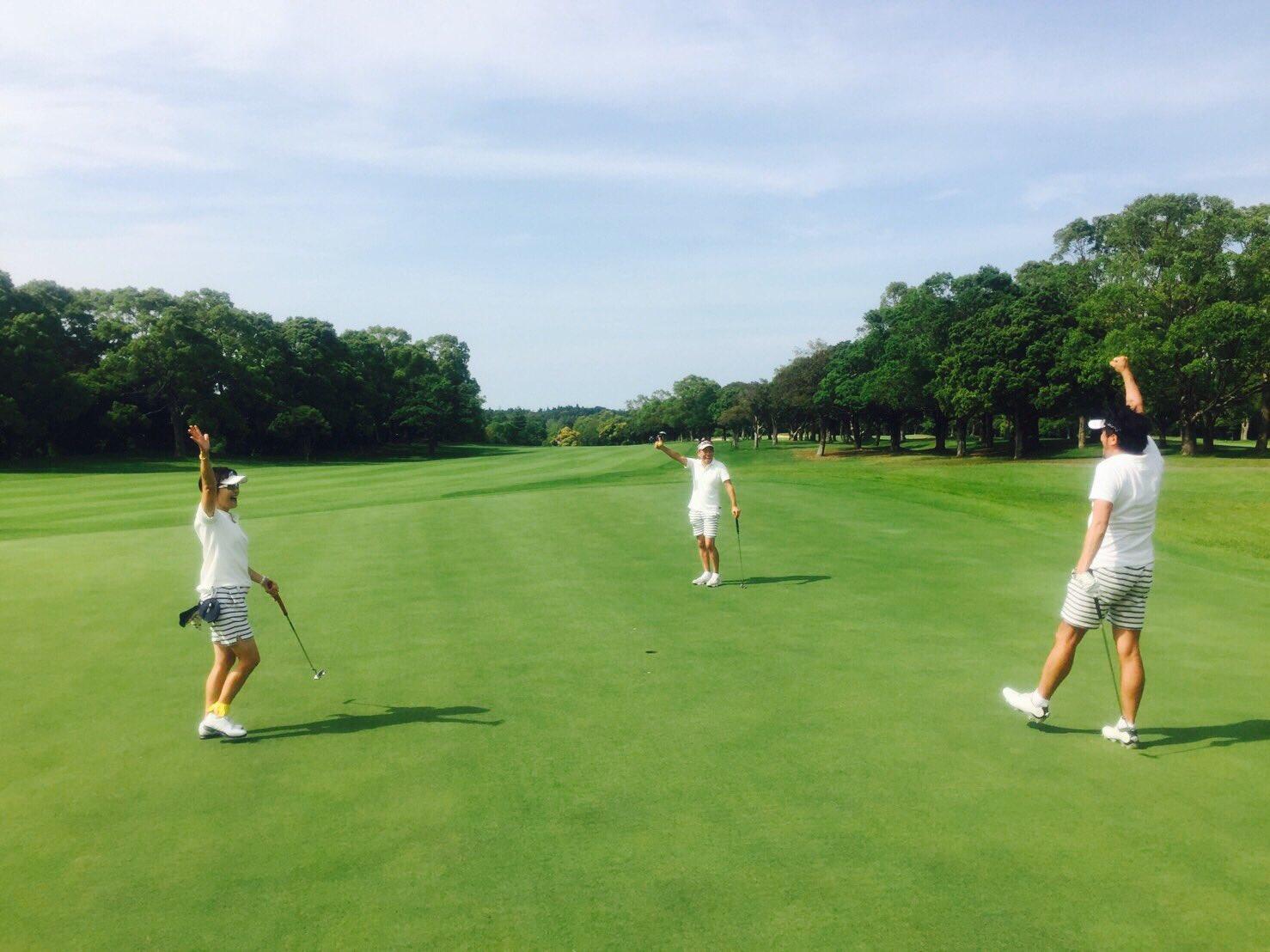 昨日は元祖チーム短パンゴルフでした。